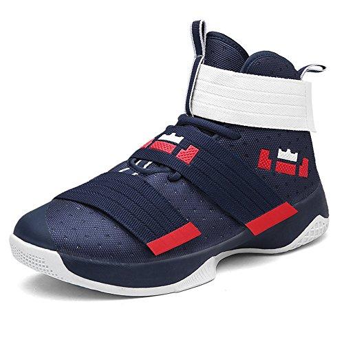 Herren Jungen Basketballschuhe Hohe Sneakers Atmungsaktiv Ausbildung Outdoor Freizeit Sport Turnschuhe