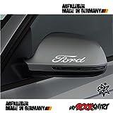 2 x Spiegel Aufkleber Spiegelaufkleber Ford Aufkleber Autoaufkleber Auto Tuning Sticker Aufkleber mit Montage Set inkl.