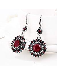 2bcdd558b53f Exquisito y Moda Pendientes de Estilo Bohemia Pendientes de botón de Fiesta  de para mujeres (