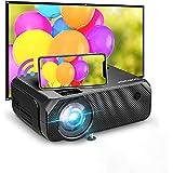 Bomaker Mini Beamer WiFi, 6000 home cinema-projector, native 720P Full HD 300-inch scherm, compatibel met TV Stick, HDMI, SD,