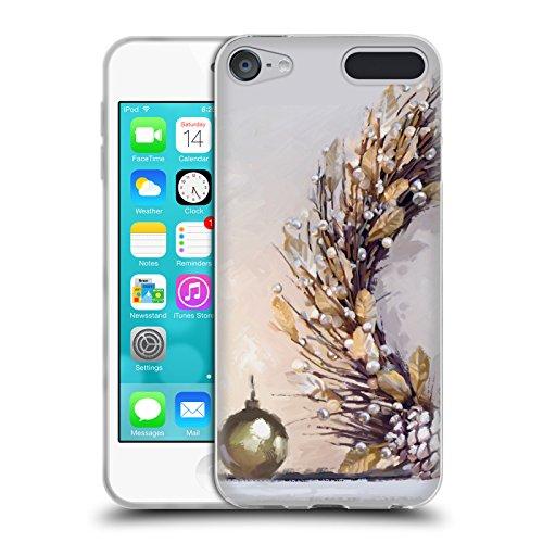 Head Case Designs Offizielle The Macneil Studio Kranz Gold Weihnachtsdekoration Soft Gel Hülle für Apple iPod Touch 6G 6th Gen (Soft Touch Kranz)