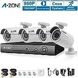 A-ZONE 1.30Megapixel Kit di videosorveglianza 4 canali AHD DVR + 4 proiettile telecamere 960P Alta risoluzione Impermeabile Outdoor / Indoor Visione notturna Inizio sistema di telecamere di sicurezza Senza Disco rigido (Without HDD) immagine