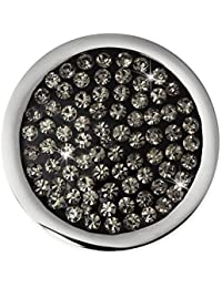 Amello ESC350K Adorno para colgante circonitas, 25mm, acero inoxidable, color gris