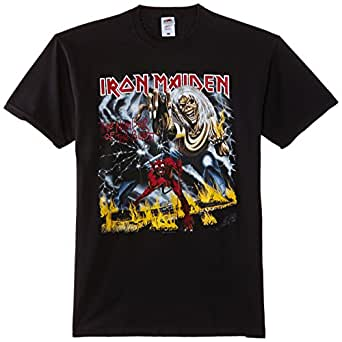 Iron Maiden Men Number of the Beast Short Sleeve T-Shirt, Black, Small