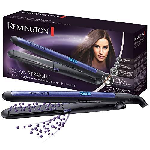 Remington Haarglätter Pro-Ion Straight S7710, Testsieger bei Stiftung Warentest, dreifache Ionen-Technologie, Digitaldisplay, max. 230 Grad, schwarz/blau