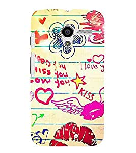 For Motorola Moto X :: Motorola Moto X (1st Gen) XT1052 XT1058 XT1053 XT1056 XT1060 XT1055 I need you I miss you I love you, good quotes, flower, pattern, cat Designer Printed High Quality Smooth Matte Protective Mobile Case Back Pouch Cover by APEX