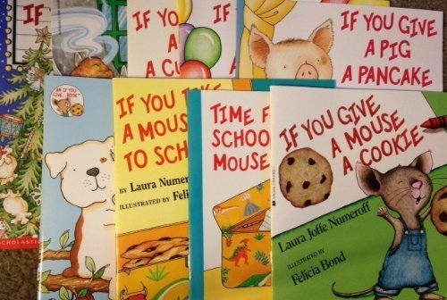 If You Give Book Pack 9 Paperback Books: If Give A Dog A Donut / If Give A Mouse A Cookie / If You Give a Cat a Cupcake / If You Give a Pig a Party / If You Give a Moose a Muffin / If You Take a Mouse to School / If You Take a Mouse to the Movies / If You Give A Pig a Pancake / Time For School Mouse by Laura Numeroff (2013-01-01)