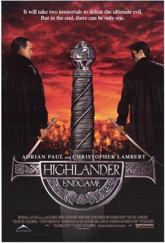 27 x 40 Highlander: Endgame Movie Poster by postersdepeliculas