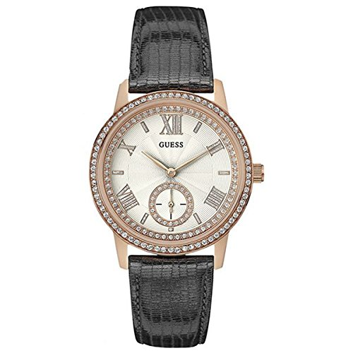 Guess orologio analogueico quarzo donna con cinturino in pelle w0642l3