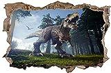 Dinosaurier T-Rex Jäger Wald Wandtattoo Wandsticker Wandaufkleber D1756 Größe 120 cm x 180 cm