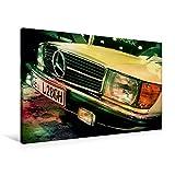 Premium Textil-Leinwand 90 cm x 60 cm quer, Oldtimer aus Deutschland   Wandbild, Bild auf Keilrahmen, Fertigbild auf echter Leinwand, Leinwanddruck: Mercedes 280 SLC 1977 (CALVENDO Mobilitaet)