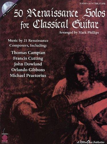 HAL LEONARD 50 RENAISSANCE SOLOS FOR CLASSICAL GUITAR Klassische Noten Gitarre