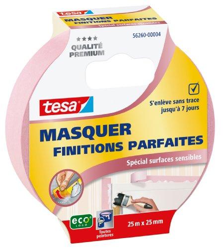 Tesa 56260-00004-00 - Nastro adesivo per mascheratura per finiture perfette, speciale superfici delicate, 25 m x 25 mm