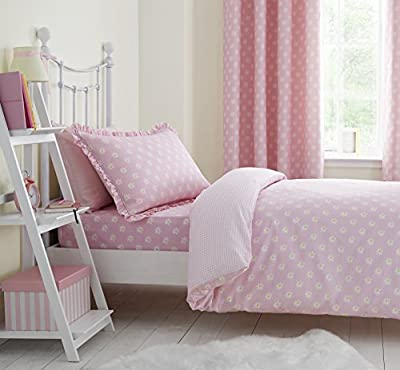 Catherine Lansfield Daisy Dreamer Single Quilt Set, Pink