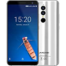 UMIDIGI A1 Pro Mobile Phone Unlocked, Dual 4G VoLTE Smart Phone 5.5 inch HD (18:9 Full Screen) Android 8.1 Phone with Face Unlock, 3GB RAM +16GB ROM, 13.0MP + 5.0MP Dual-lens Cameras, Type-C [Silver]