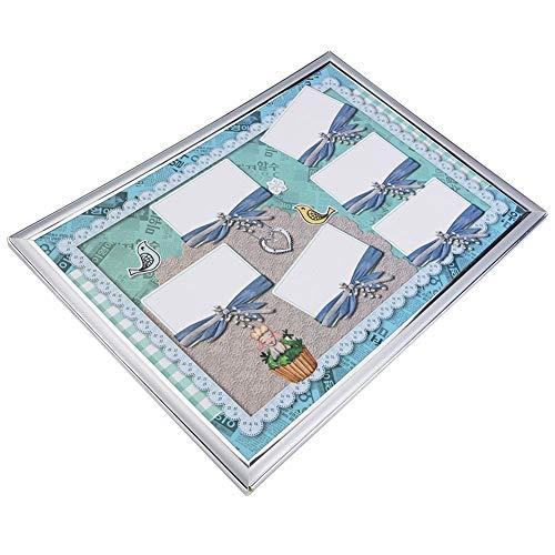 L'outil de Manucure de Carte D'affichage D'affichage Vide d'art de Conseils D'ongle de Mousse Couvre le Cadre(Bleu)