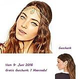 Culater® Shiny Metal Head Fatima Kette Schmuckkette Stirnband Kopfschmuck Haar-Band