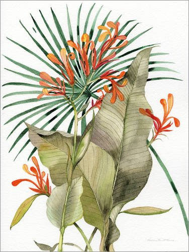 Posterlounge Alu Dibond 100 x 130 cm: Flammen-Lilien von Kathleen Parr McKenna/Wild Apple Graphics