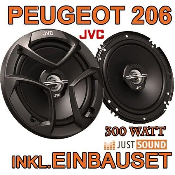 JVC LAUTSPRECHER für PEUGEOT 206 1998-2012 Front Vorn Tür 2-Wege Koax 300W #A94Y