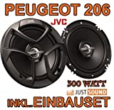 Peugeot 206, 206cc, 206sw, 206+ - Lautsprecher - JVC CS-J620-16cm Koaxe