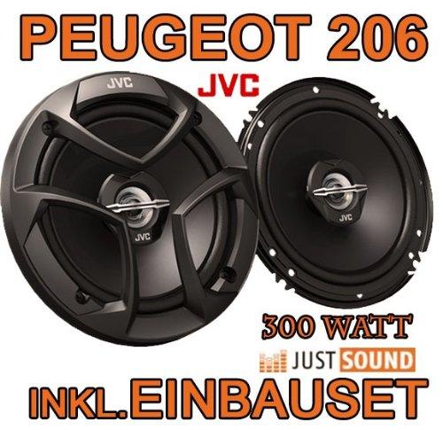 Lautsprecher - JVC CS-J620-16cm Koaxe f?r Peugeot 206, 206cc, 206sw, 206+ - JUST SOUND best choice for caraudio