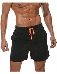 cfd3f09a81 donhobo Men s Swim Trunks Board Shorts Beach Pants Swimming Waterproof  Quick Dry Surfing Boardshorts