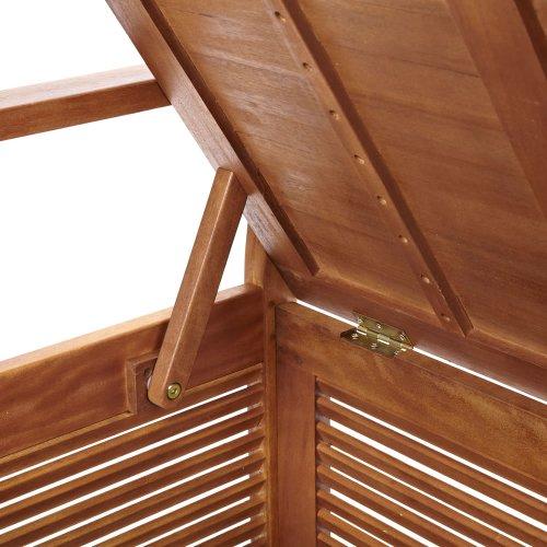 Trueshopping Gartenbank mit Truhe, Holz, 123x89x55cm - 4