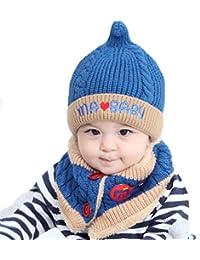 Kfnire Sciarpa del Cappello di Inverno del Bambino del Ragazzo del Neonato  Unisex Impostato per Il Regalo di… 5134988887da