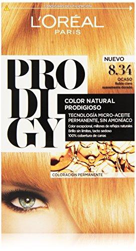 L'Oreal Tintura per Capelli, Prodigy Coloración Permanente, 200 gr, 8.34-Ocaso