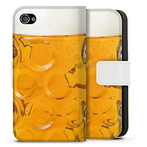 Apple iPhone 6s Silikon Hülle Case Schutzhülle Bier Glas Maßkrug Oktoberfest Sideflip Tasche weiß
