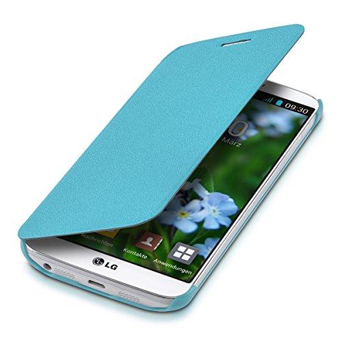 Kwmobile cover per lg g2 - custodia protettiva apribile a libro - flip case con sportellino per lg g2
