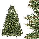 FairyTrees künstlicher Weihnachtsbaum FICHTE Natur, Baumstamm grün, Material PVC, inkl. Metallständer, 220cm