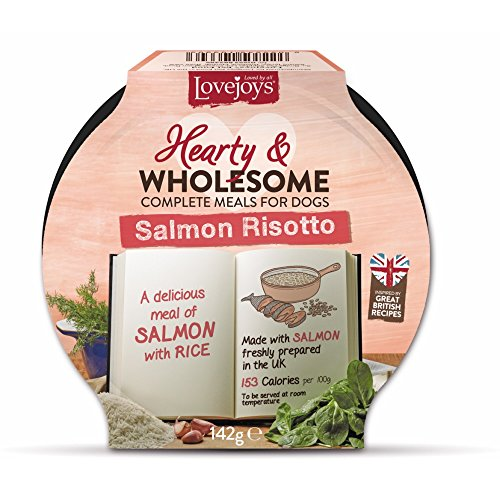 Lovejoys Hearty and Wholesome Risotto Complete Wet Dog Food Salmon and Rice, 7 x 142g