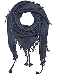 Superfreak® Pañuelo pali de dos colores especial°chal PLO°100x100 cm°Pañuelo palestino Arafat°100% algodón – gris/gris-oscuro