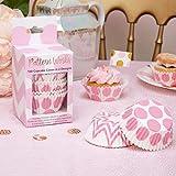 Premium Weddings Cupcake Förmchen Punkte rosa