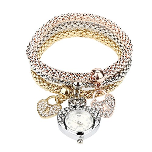HUIHUI Uhren Damen, Geflochten Armbanduhren Günstige Uhren Wasserdicht Casual Analoge Quarz Uhr Luxus Armband Coole Uhren Lederarmband Mädchen Frau Uhr (A)