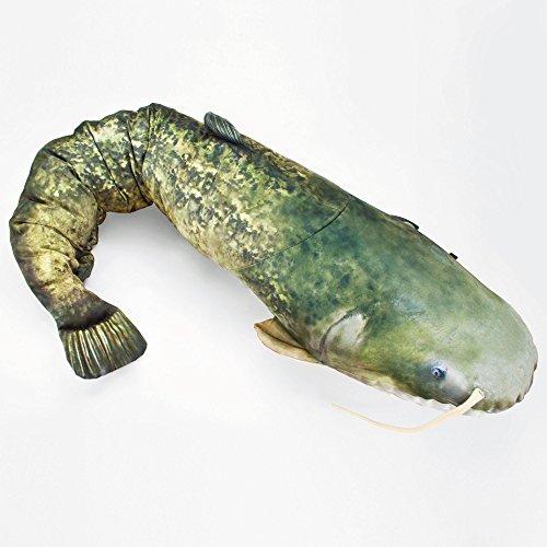 GABY Fish Pillows Dekoratives Kissen in Form eines echten Fisches, Wels -