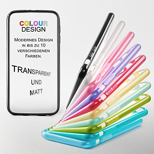 iPhone 5S Hülle Slim Transparent Mint-Grün [OneFlow Impact Back-Cover] Dünn Schutzhülle Silikon Handy-Hülle für iPhone 5/5S/SE Case TPU Tasche Matt JADE-MINT