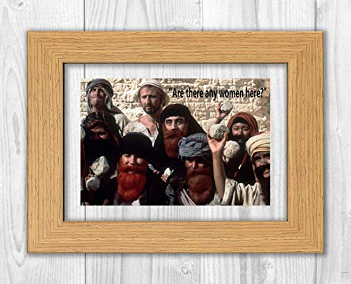 Engravia Digital Monty Python's Life of Brian The Stoning Poster Signed Autograph Reproduction Photo A4 Print(White Frame) -