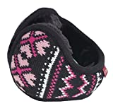 Unisex Foldable Earmuffs Warm Knit Ear Warmers Fleece Winter Earmuffs, B6