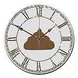 Mr. & Mrs. Panda Wanduhr rund Shit - Scheiße, Shit, WC, Kot, Toilette, Gästetoilette, WC Wanduhr, Uhr, Kinderuhr, Kinderzimmer, Wanddeko, Deko, Geschenk, Clock, modern, Schenken, Zeit, Einrichten, Uhrwerk, Wohnzimmer, Holz, rund