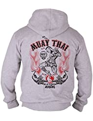 Dirty Ray Arts Martiaux MMA Muay Thai Sweat homme avec capuche B9