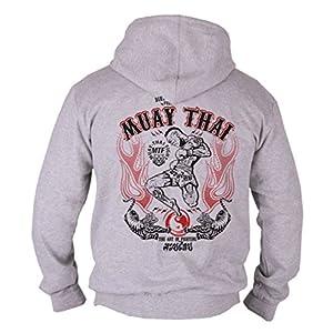 Dirty Ray Arts Martiaux Brazilian Jiu-Jitsu Sweat homme avec capuche B33C