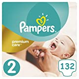 Pampers Premium Care Mini Gr.2 3-6 kg (6 x 22 = 132 Windeln) Sparpack Monatsbox