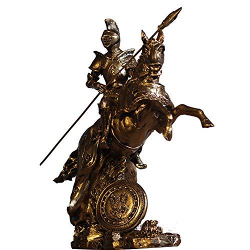 Spartan Warrior Statue, Krieger Skulptur Modell Römischer Soldat Skulptur Desktop Dekoration Schreibtisch Dekoration 27 * 10 * 28 Cm