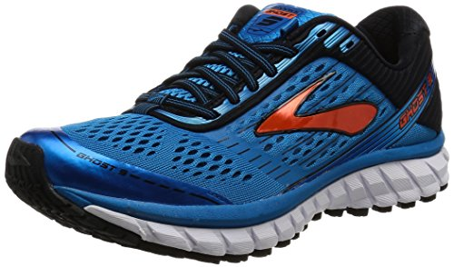 Brooks Ghost 9, Scarpe da Corsa Uomo, Blu (Methyl Blue/Black/Flame), 40 EU