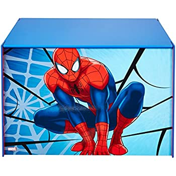 Spider Man Marvel Kids Toy Box   Childrens Bedroom Storage Chest With Bench  Lid By
