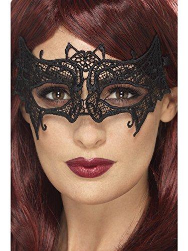 ckerei Spitze, filigrane Fledermaus Augenmaske, schwarz, eine Größe (Fledermaus Brille)