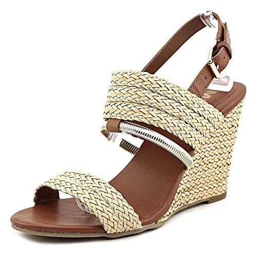 Mia Adria Damen Synthetik Keilabsätze Sandale Natural