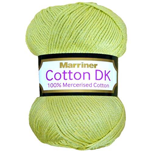 5b6eece699 Marriner Yarns - Filo di cotone da maglia doppio DK, in 100% cotone  mercerizzato, Asparagus, 100 g